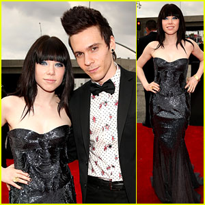 Carly Rae Jepsen: Grammys 2013 Red Carpet with Matthew Koma!