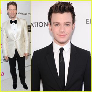Chris Colfer & Matthew Morrison - Elton John Oscars Party 2013