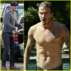 David Beckham: Shirtless for H&M Bodywear Short Film!