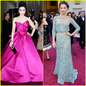 Fan Bingbing & Alicia Vikander - Oscars 2013 Red Carpet
