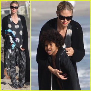 Heidi Klum & Martin Kirsten: Beach Day with the Kids!