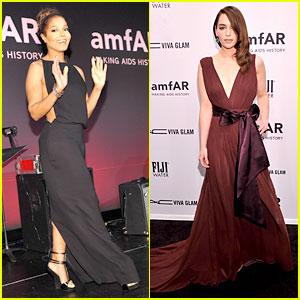 Janet Jackson & Emilia Clarke: amfAR New York Gala 2013