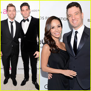 Lance Bass & JC Chasez - Elton John Oscars Party 2013