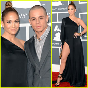 Jennifer Lopez: Grammys 2013 with Casper Smart!