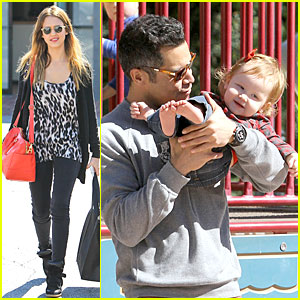 Jessica Alba & Cash Warren: Oscars Sunday at the Park!