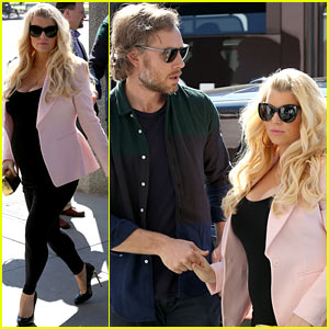 Jessica Simpson & Eric Johnson: Valentine's Lunch Lovebirds!