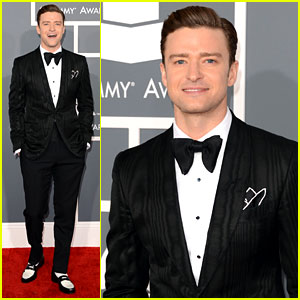Justin Timberlake - Grammys 2013 Red Carpet