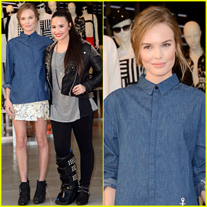 Kate Bosworth &#038; Demi Lovato: Topshop Grand Opening!