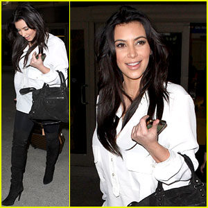Kim Kardashian: Pregnant in Heels at LAX Airport!