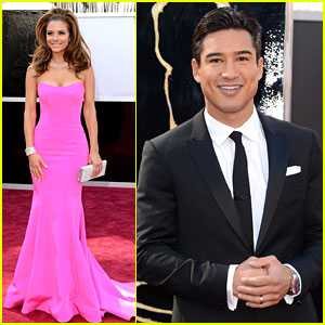 Maria Menounos &#038; Mario Lopez - Oscars 2013 Red Carpet