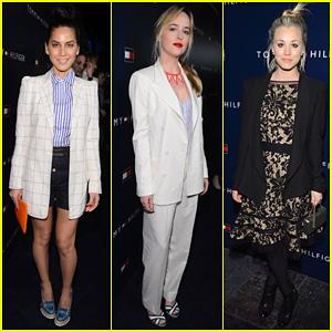 Olivia Munn & Dakota Johnson: Tommy Hilfiger Store Opening!