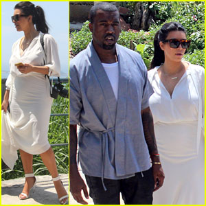 Pregnant Kim Kardashian & Kanye West: Vidigal Tour with Will Smith