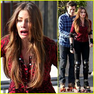 Sofia Vergara: Pre-Flu 'Modern Family' Filming!