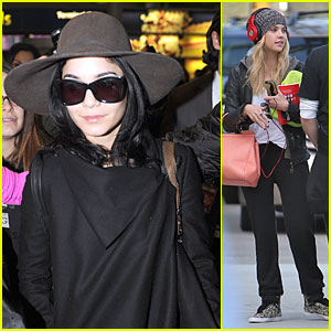 Vanessa Hudgens & Ashley Benson: 'Spring Breakers' Paris Arrival!