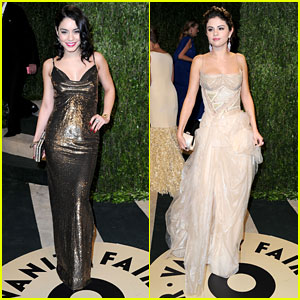 Vanessa Hudgens & Selena Gomez - Vanity Fair Oscars Party 2013