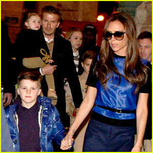 Victoria &#038; David Beckham: Eurostar to Paris with the Kids!