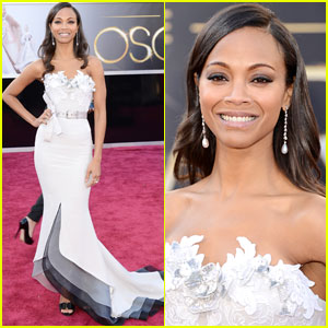 Zoe Saldana - Oscars 2013 Red Carpet