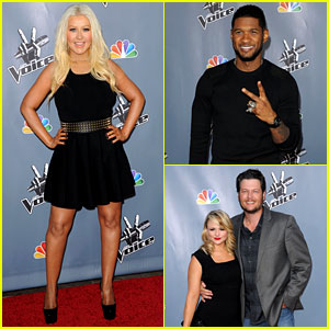 Christina Aguilera & Usher: 'The Voice' Season 4 Screening!
