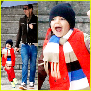 Cristiano Ronaldo: Rainy Madrid Day with Cristiano Jr.!