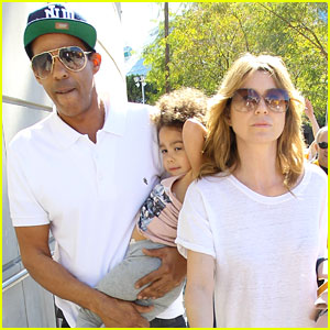 Ellen Pompeo & Chris Ivery: Lakers Game with Stella!