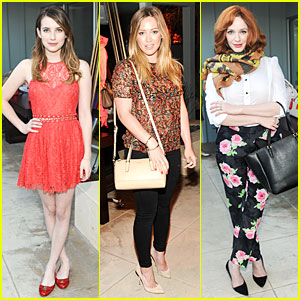 Emma Roberts & Hilary Duff: Theodora & Callum and Coach Cocktail Party!