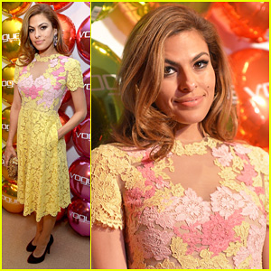 Eva Mendes: Vogue Eyewear Launch!