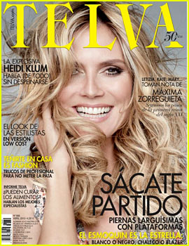 Heidi Klum Covers 'Telva' April 2013