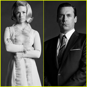 January Jones & Jon Hamm: 'Mad Men' Season 6 Cast Portraits!
