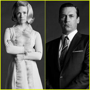 January Jones & Jon Hamm: 'Mad Men' Season 6 Cast Portraits!