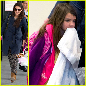 Katie Holmes & Suri: Back from Disney World!