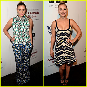 Ke$ha & Kaley Cuoco: Genesis Awards 2013!