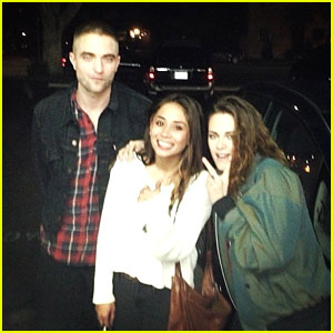 Kristen Stewart & Robert Pattinson: Date Night with a Fan!