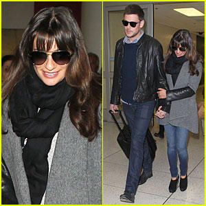 Lea Michele & Cory Monteith: Snowy New York Departure!