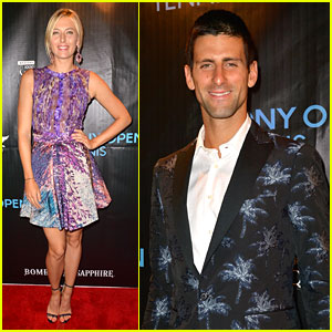 Maria Sharapova & Novak Djokovic: Sony Open Player Party!
