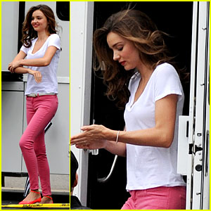Miranda Kerr Films Commercial at Fields Market