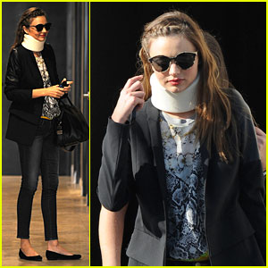 Miranda Kerr: Neck Brace Medical Visit!