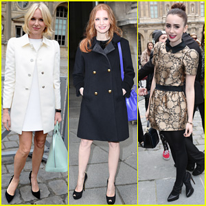 Naomi Watts & Jessica Chastain: Louis Vuitton Fashion Show!