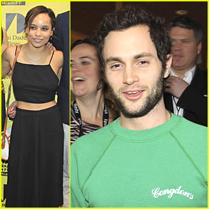 Penn Badgley & Zoe Kravitz: 'The Boy Who Smells Like Fish' Miami Premiere!
