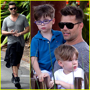 Ricky Martin: Taronga Zoo with Matteo & Valentino!