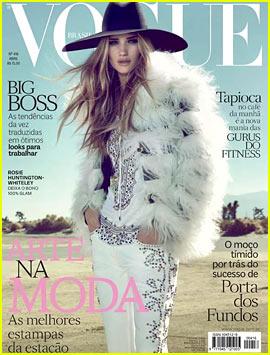 Rosie Huntington-Whiteley Covers 'Vogue Brasil' April 2013