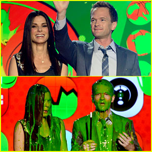 Sandra Bullock & Neil Patrick Harris: Slimed at KCAs 2013!