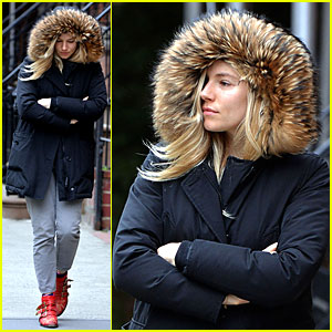 Sienna Miller: Red Hot Stroll in the Big Apple!