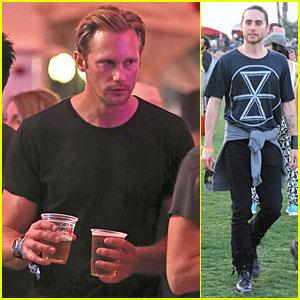 Alexander Skarsgard & Jared Leto: Coachella Music Festival Dudes!