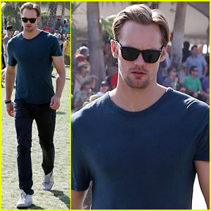 Alexander Skarsgard: Sunday at Coachella!