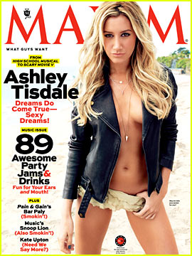 Ashley Tisdale: Topless for 'Maxim' May 2013