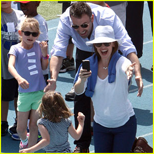 Ben Affleck & Jennifer Garner: Track Meet with the Girls!
