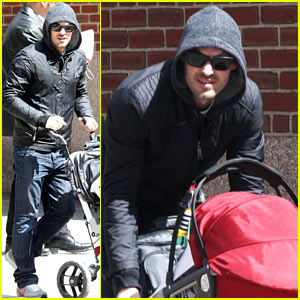Brian Austin Green: Sunny Spring Stroll with Baby Noah!