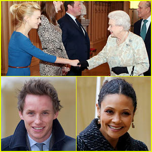 Carey Mulligan & Eddie Redmayne Meet Queet Elizabeth at Film Reception!