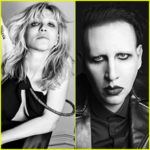 Courtney Love & Marilyn Manson: Saint Laurent Campaign Pics!