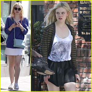 Dakota & Elle Fanning: Separate State Outings!